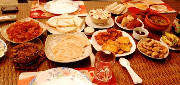 صورة عمل أطباق في رمضان