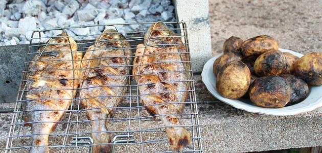 صورة طريقة شوي فيليه السمك على الفحم