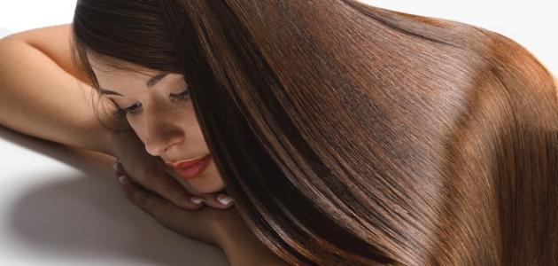 صورة طريقة فرد الشعر بالبروتين