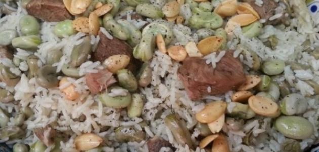 صورة الأرز بالفول على الطريقة اللبنانية