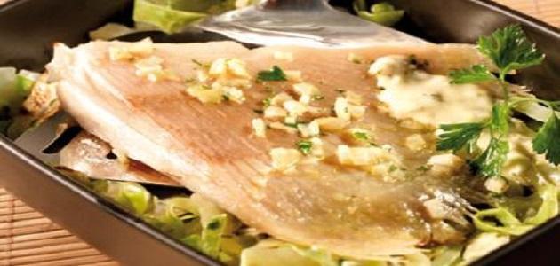 صورة كيفية طبخ سمك الراية
