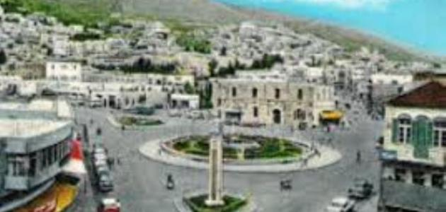 صورة أين تقع مدينة نابلس