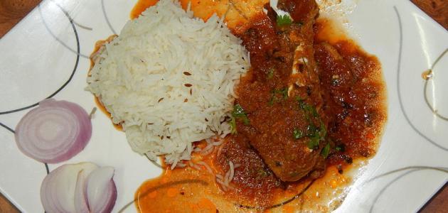 صورة طريقة عمل صالونة الدجاج الهندية