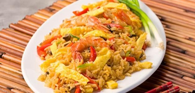 صورة طريقة عمل أرز بالجمبري والكاري