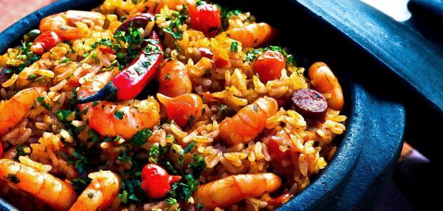 صورة طريقة عمل أرز بالجمبري والخضار