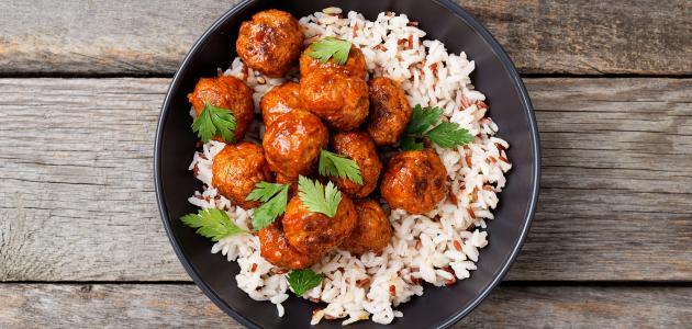 صورة طريقة تحضير أرز أبيض باللحم