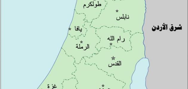 صورة محافظات فلسطين