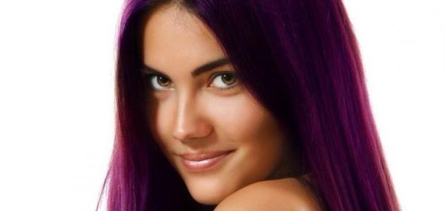 صورة طريقة صبغ الشعر باللون البنفسجي