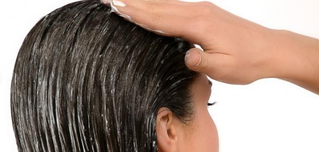 صورة طريقة فرد الشعر بالبلسم