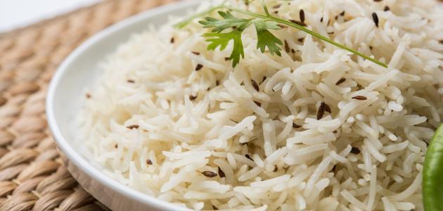 صورة طريقة عمل أرز أبيض سادة