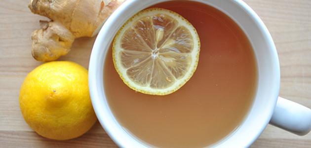 صورة طريقة عمل شاي الزنجبيل والليمون
