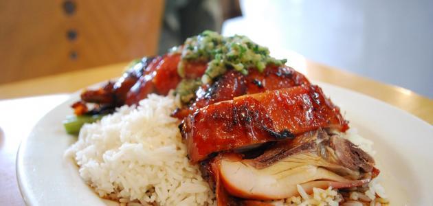 صورة أطباق الدجاج مع الأرز
