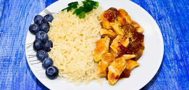 صورة أكلات دجاج وأرز