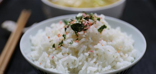 صورة كيفية عمل الأرز الأبيض العادي