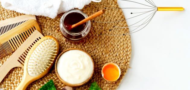 صورة فوائد البيض والعسل والزبادي للشعر