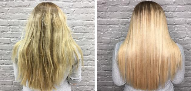 صورة كيفية معالجة الشعر الجاف