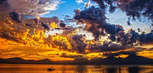 صورة مسجات عن غروب الشمس