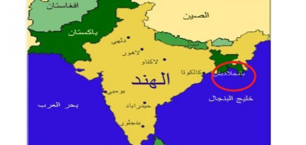 صورة أين تقع بنجلاديش