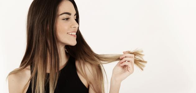 صورة كيفية تغذية الشعر الجاف